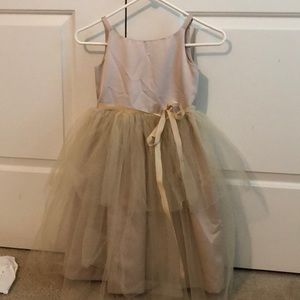 Champaign colored Flower girl dress